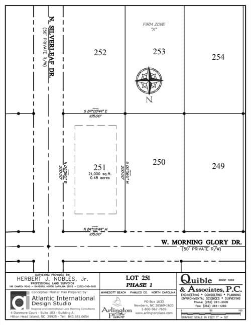 Arlington Place homesite 251 plat map.