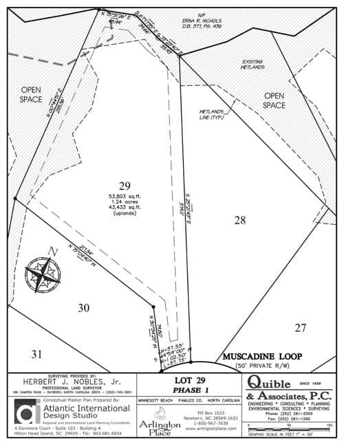 Arlington Place homesite 29 plat map.