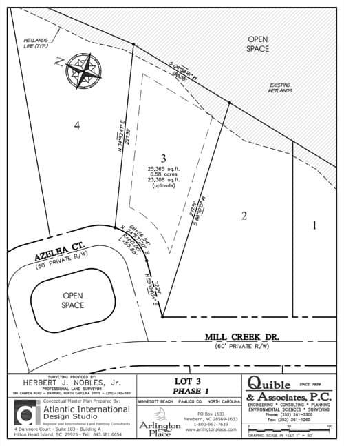 Arlington Place homesite 3 plat map.