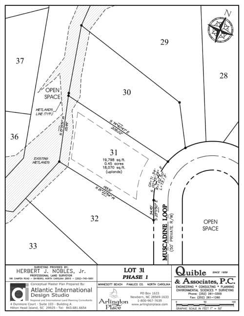 Arlington Place homesite 31 plat map.