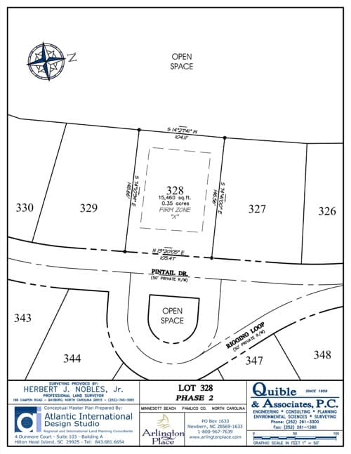 Arlington Place homesite 328 plat map.
