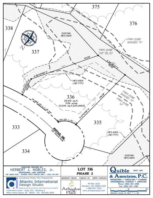 Arlington Place homesite 336 plat map.