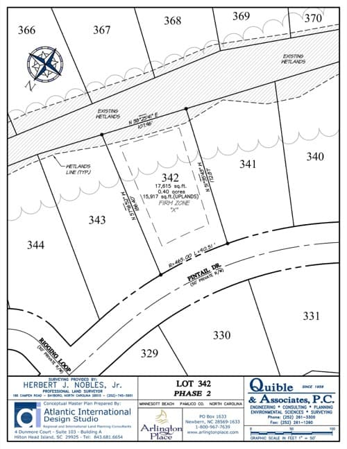 Arlington Place homesite 342 plat map.