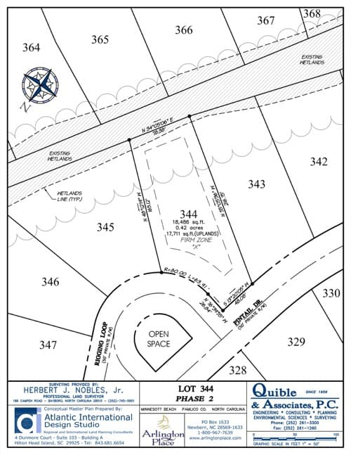 Arlington Place homesite 344 plat map.