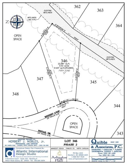 Arlington Place homesite 346 plat map.