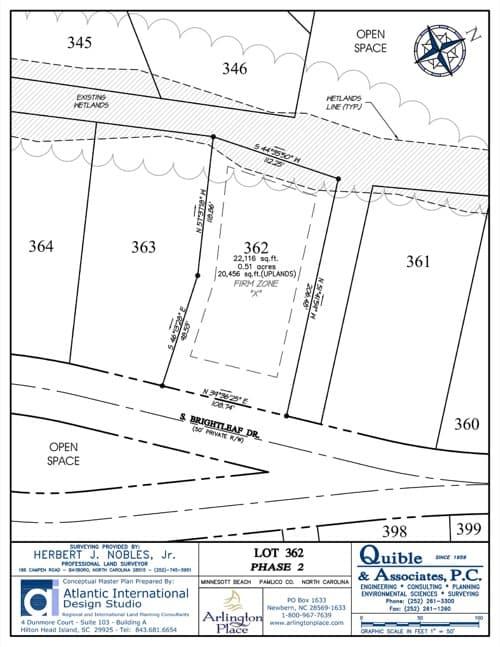 Arlington Place homesite 362 plat map.