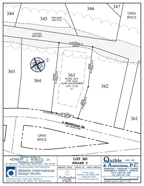 Arlington Place homesite 363 plat map.