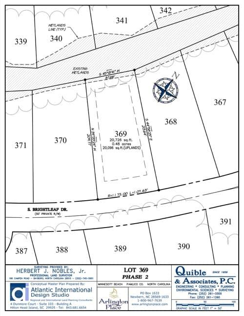Arlington Place homesite 369 plat map.