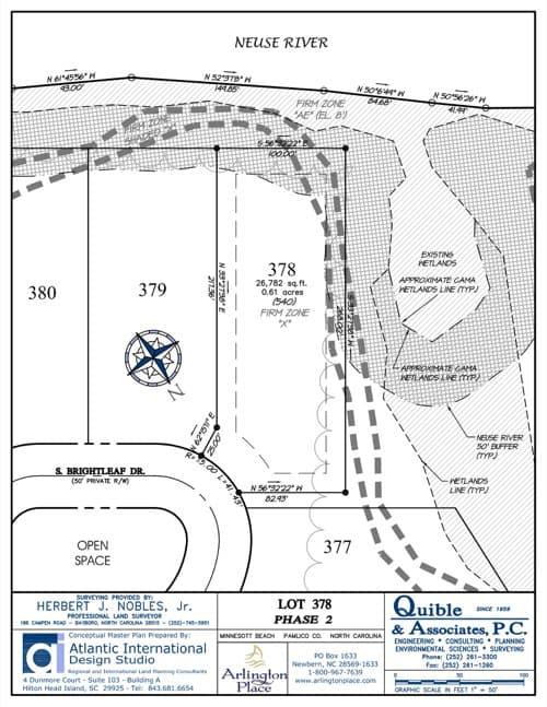 Arlington Place homesite 378 plat map.