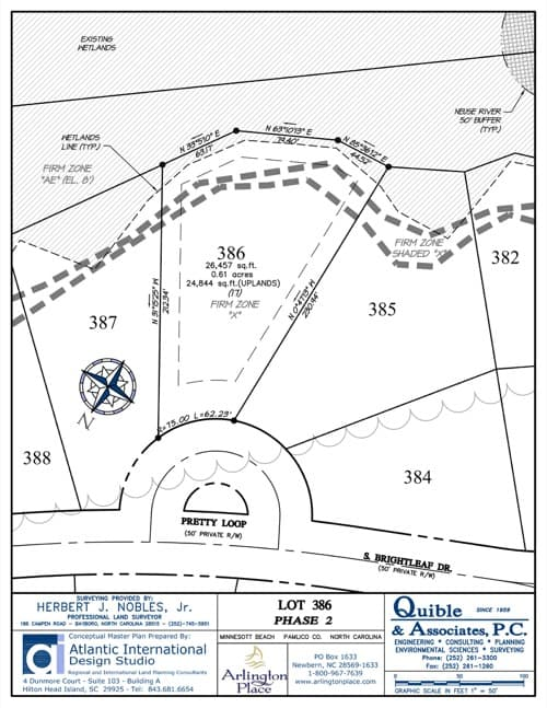 Arlington Place homesite 386 plat map.