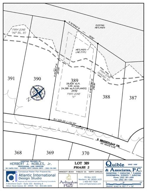 Arlington Place homesite 389 plat map.