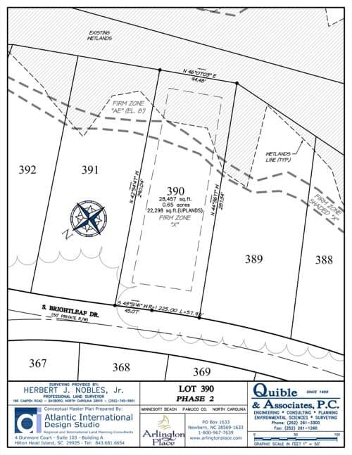 Arlington Place homesite 390 plat map.