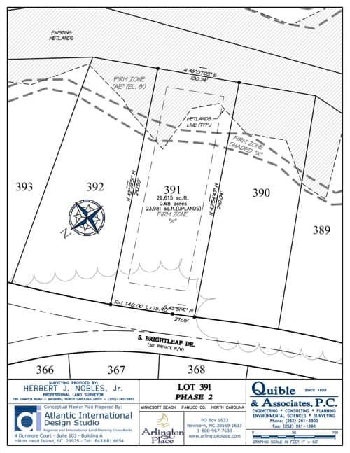 Arlington Place homesite 391 plat map.