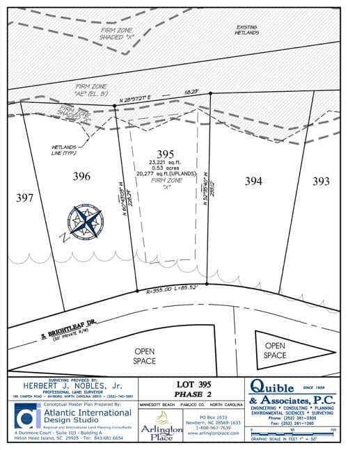 Arlington Place homesite 395 plat map.
