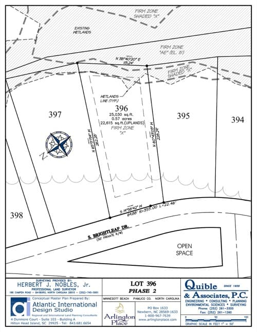 Arlington Place homesite 396 plat map.