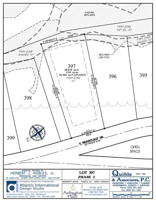 Arlington Place homesite 397 plat map.