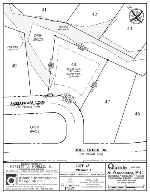 Arlington Place homesite 48 plat map.