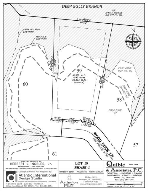 Arlington Place homesite 59 plat map.