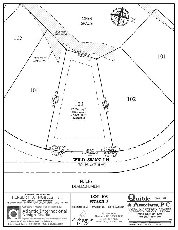 Arlington Place Homesite 103 property plat map image.