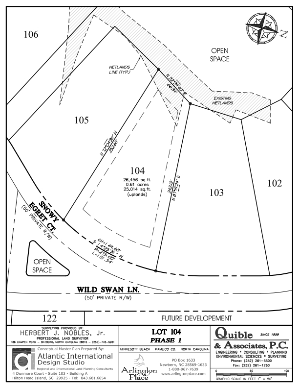 Arlington Place Homesite 104 property plat map image.