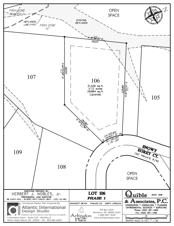 Arlington Place Homesite 106 property plat map image.