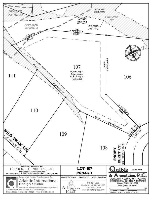 Arlington Place Homesite 107 property plat map image.