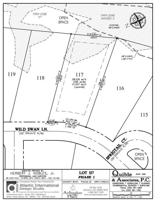 Arlington Place Homesite 117 property plat map image.