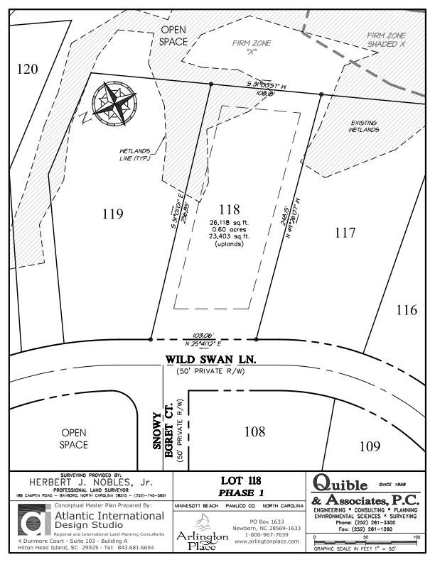 Arlington Place Homesite 118 property plat map image.