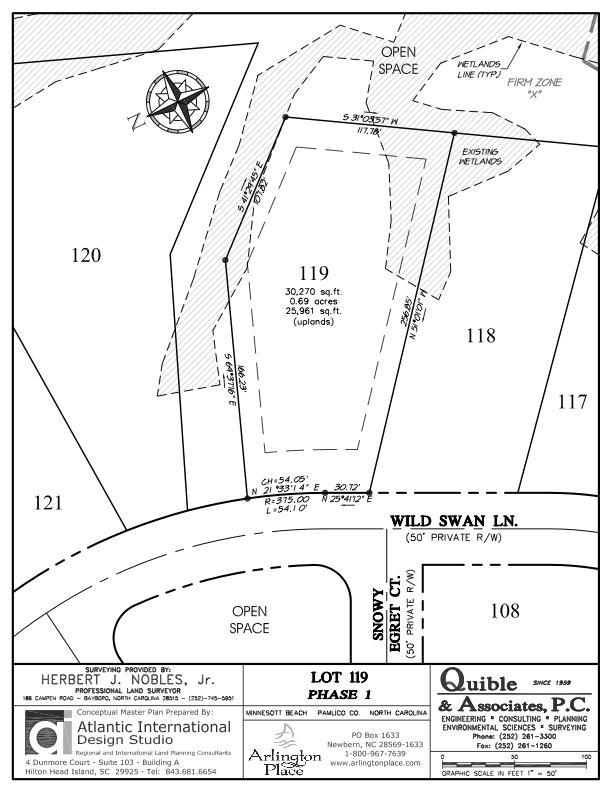 Arlington Place Homesite 119 property plat map image.
