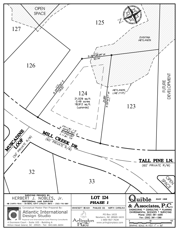 Arlington Place Homesite 124 property plat map image.