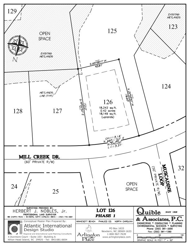 Arlington Place Homesite 126 property plat map image.