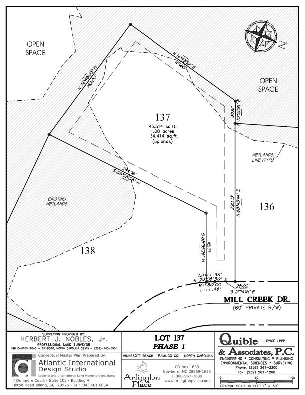 Arlington Place Homesite 137 property plat map image.