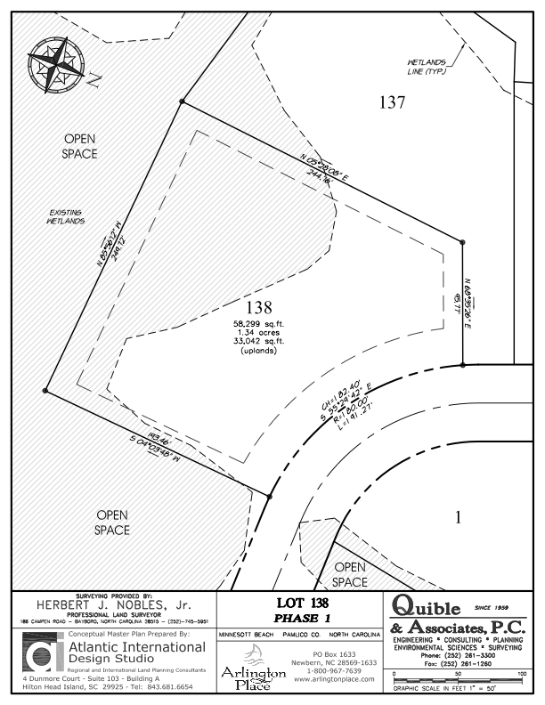 Arlington Place Homesite 138 property plat map image.