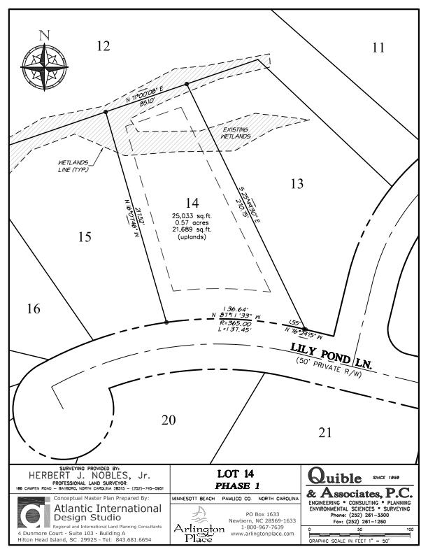 Arlington Place Homesite 14 property plat map image.