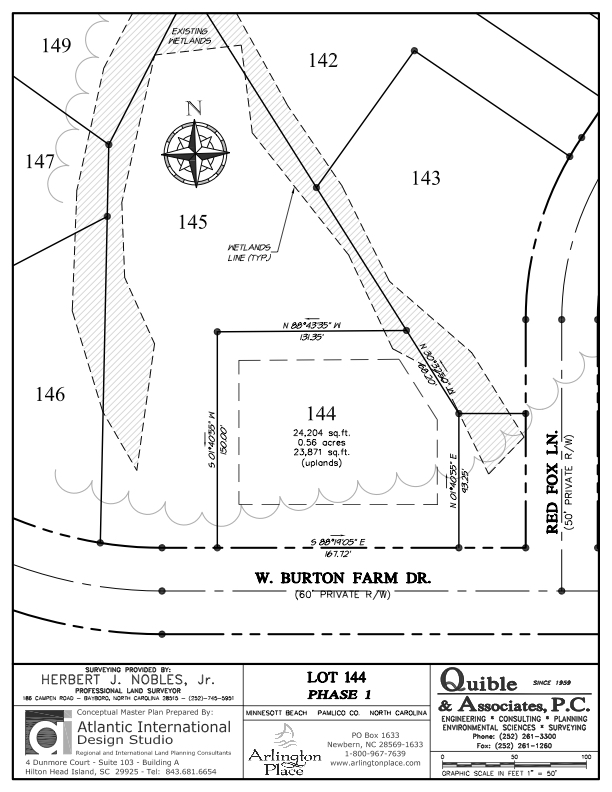 Arlington Place Homesite 144 property plat map image.