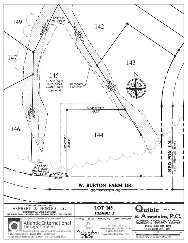 Arlington Place Homesite 145 property plat map image.