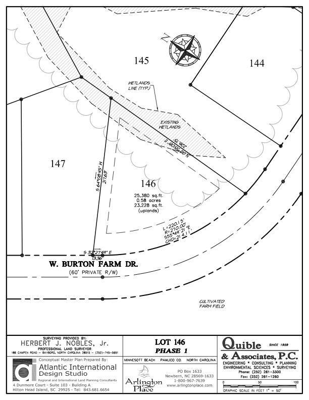 Arlington Place Homesite 146 property plat map image.