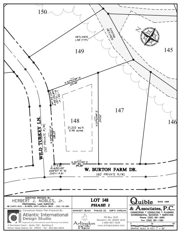 Arlington Place Homesite 148 property plat map image.