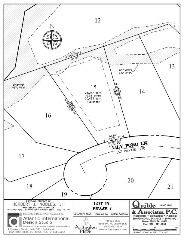 Arlington Place Homesite 15 property plat map image.