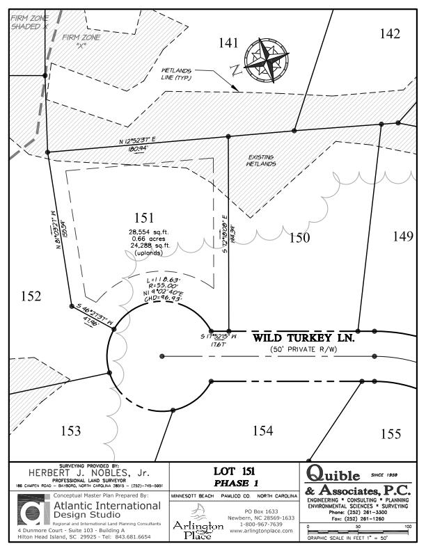 Arlington Place Homesite 151 property plat map image.