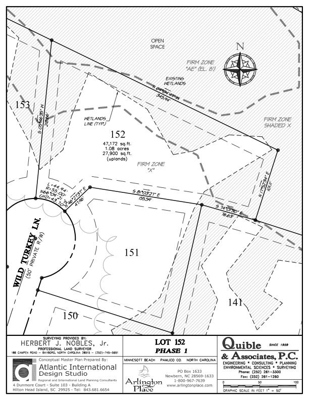 Arlington Place Homesite 152 property plat map image.