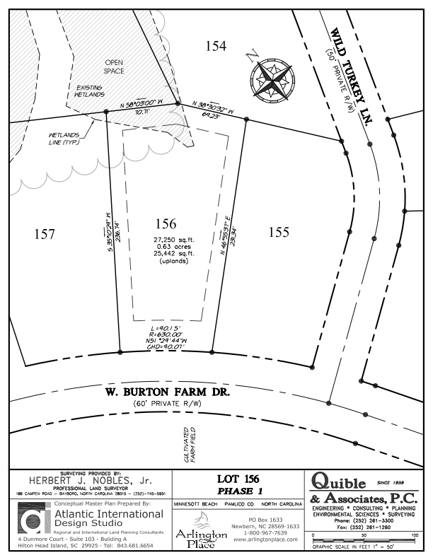 Arlington Place Homesite 156 property plat map image.
