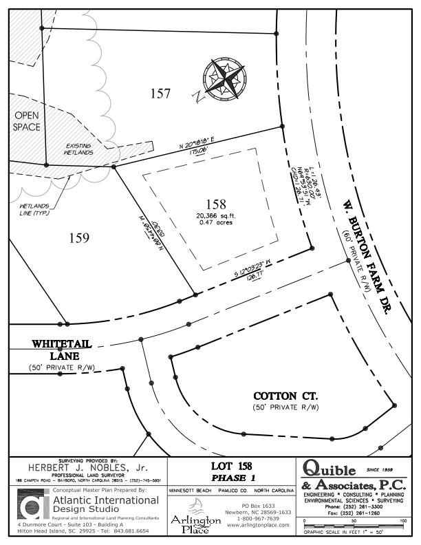 Arlington Place Homesite 158 property plat map image.