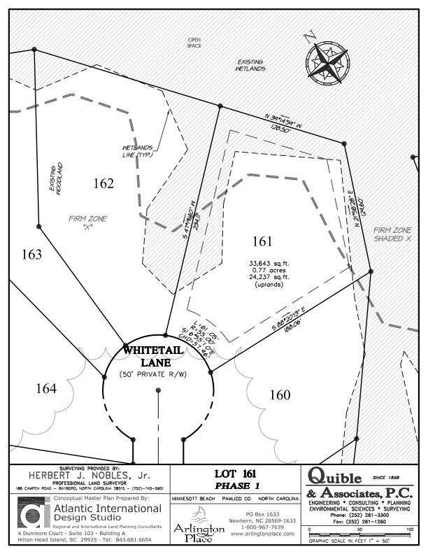 Arlington Place Homesite 161 property plat map image.