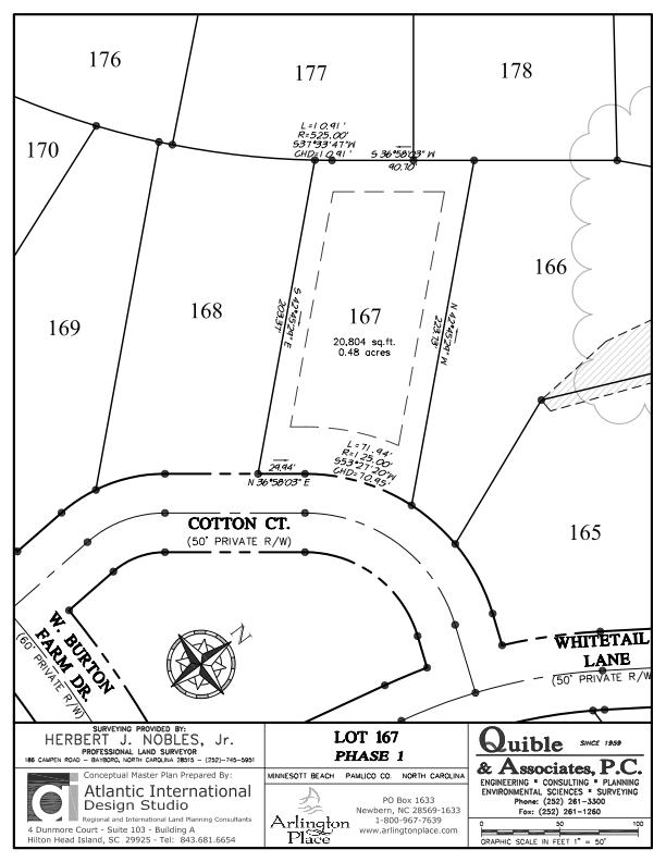 Arlington Place Homesite 167 property plat map image.