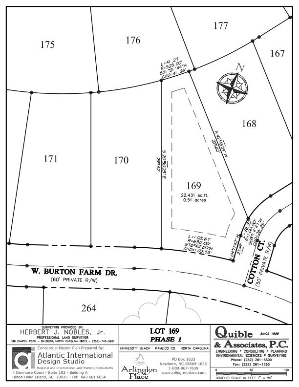 Arlington Place Homesite 169 property plat map image.