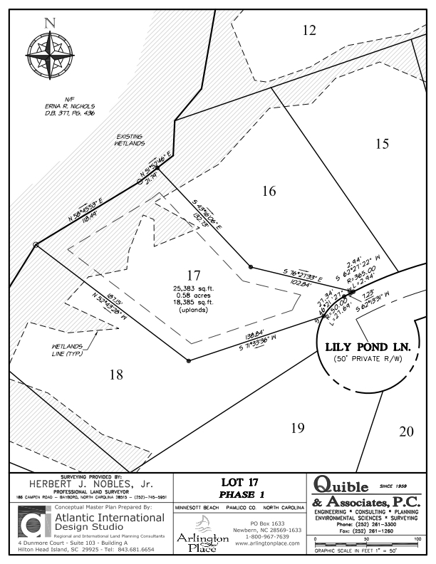 Arlington Place Homesite 17 property plat map image.