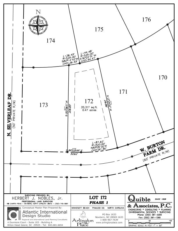 Arlington Place Homesite 172 property plat map image.