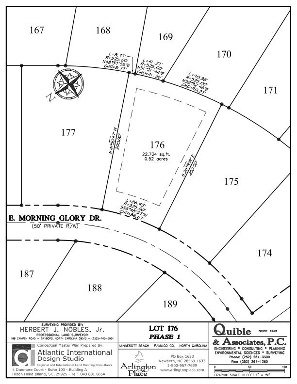 Arlington Place Homesite 176 property plat map image.