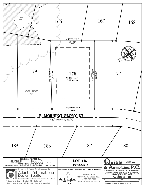 Arlington Place Homesite 178 property plat map image.